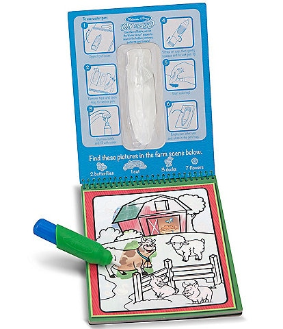 Melissa & Doug Water Wow! Animals - On the Go Travel Activity Book