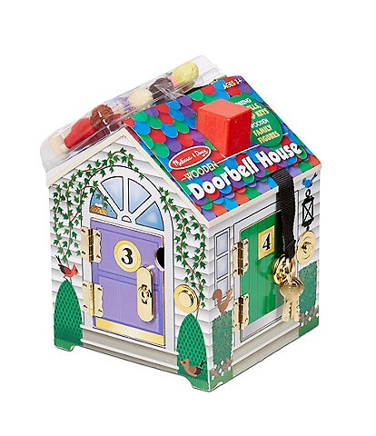 Melissa & Doug Wooden Doorbell House Set