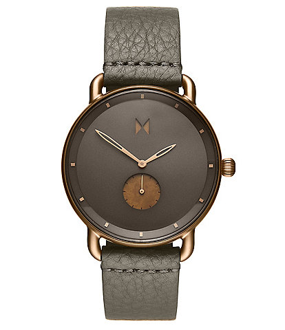 Men's Revolver Bronze Age Quartz Analog Sage Leather Watch