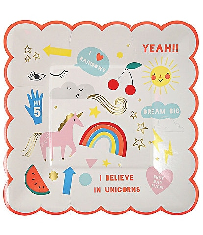 Meri Meri 12- Pack Unicorn Small Party Plates
