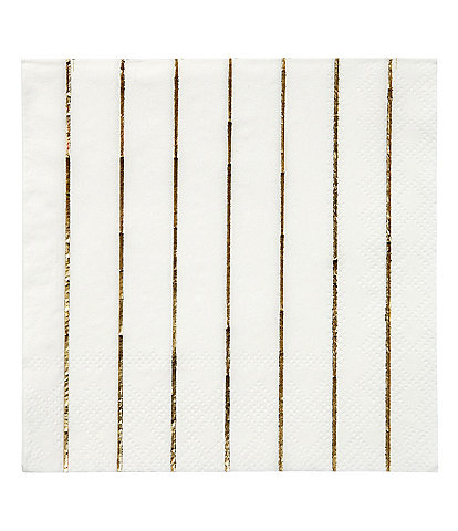 Meri Meri 16-Pack Gold Stripe Party Small Napkins