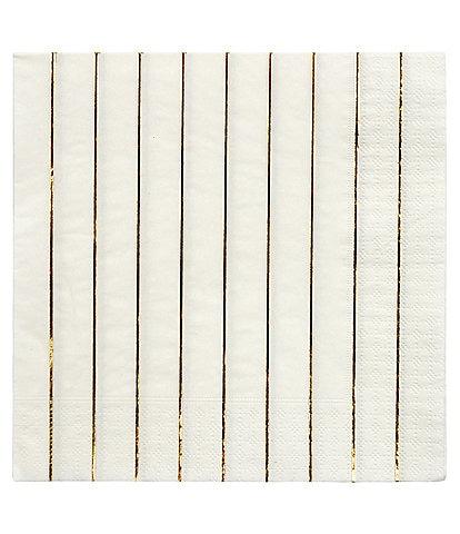 Meri Meri 16-Pack Metallic Stripe Party Large Napkins