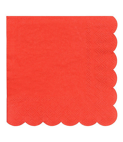 Meri Meri 20-Pack Red Party Small Napkins