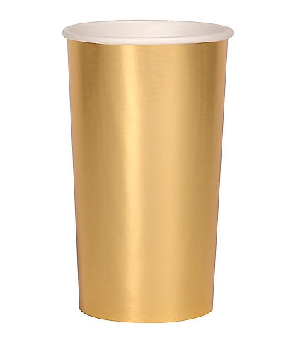 Meri Meri 8-Pack Gold Party Highball Cups