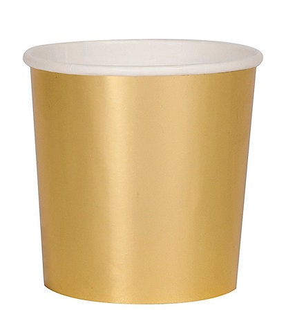 Meri Meri 8-Pack Gold Party Tumbler Cups