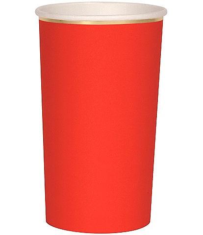 Meri Meri 8-Pack Red Party Highball Cups