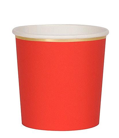 Meri Meri 8-Pack Red Party Tumbler Cups