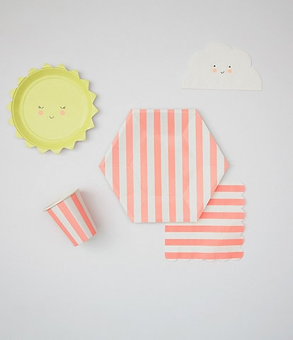 Meri Meri Coral Baby Shower Tableware Bundle