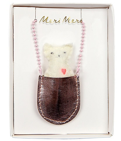 Meri Meri Girls Cat Pocket Necklace