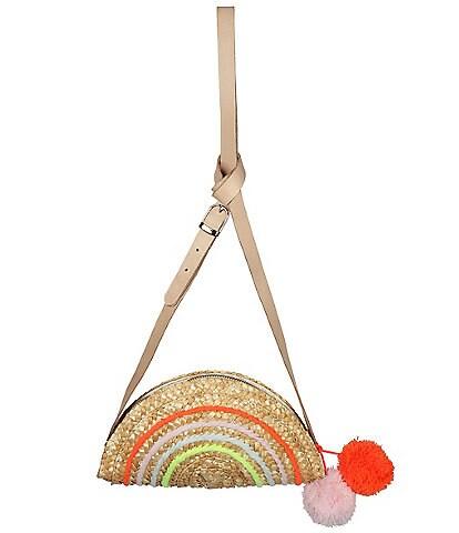 Meri Meri Girls Rainbow Seagrass Crossbody Bag