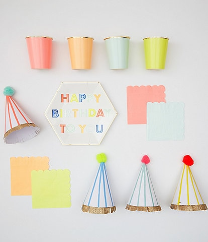 Meri Meri Neon Birthday Tableware Bundle