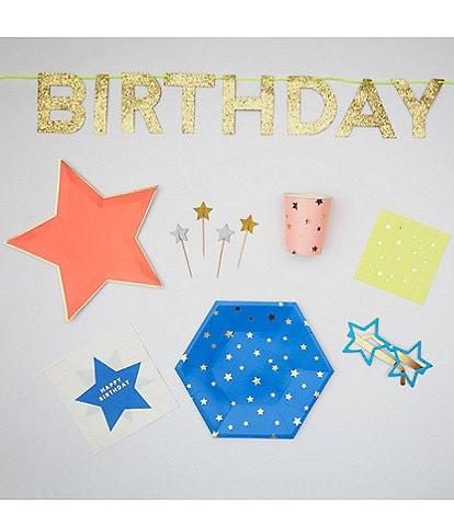 Meri Meri Neon Star Birthday Complete Party Bundle