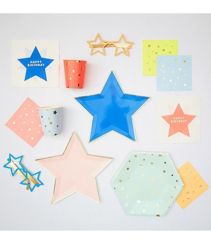 Meri Meri Neon Star Birthday Tableware Bundle