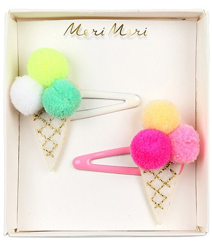 Meri Meri Pom Pom Ice Cream Hair Slide Set