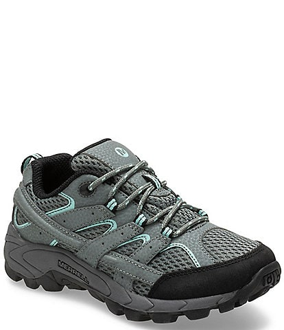 Merrell Boys' Moab 2 Low Lace Suede and Mesh Shoe Toddler