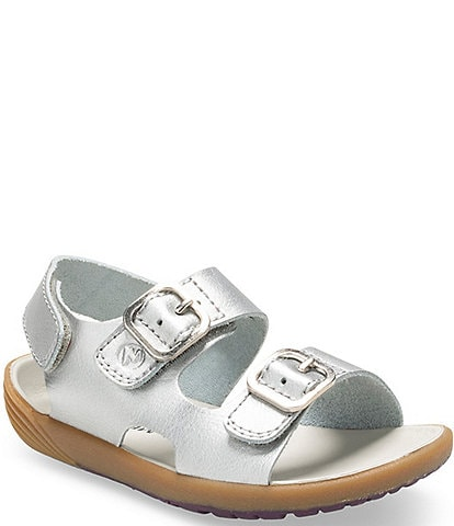Merrell Girls' Bare Steps Metallic Leather Sandals Infant