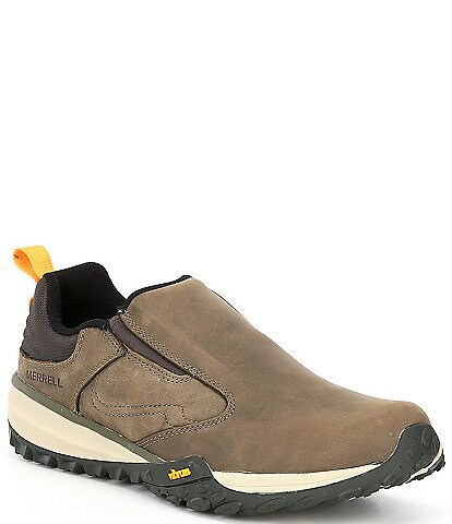 Merrell Men's Havoc Wells Leather and Mesh Slip-On Moccasins