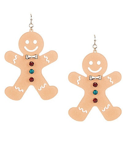 Merry & Bright Gingerbread Man Earrings