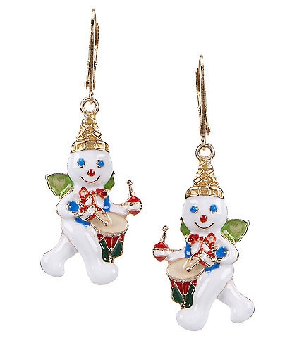 Merry & Bright Mr. Bingle Drummer Drop Earrings