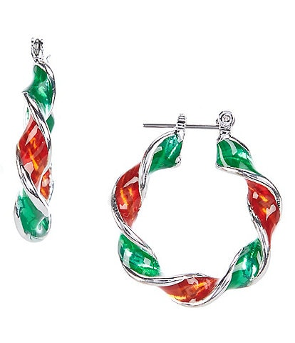 Merry & Bright Twisted Holiday Hoop Earrings