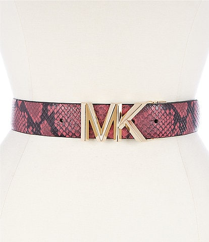 Michael Kors 1.5#double; Reversible MK Buckle Belt