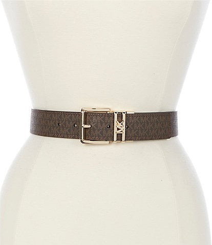 Michael Kors 1.5#double; Signature Logo Reversible Belt
