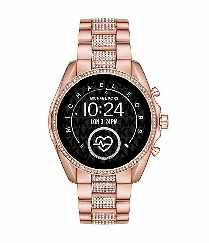 Michael Kors Access Bradshaw Rose Goldtone Glitz Touchscreen Smartwatch