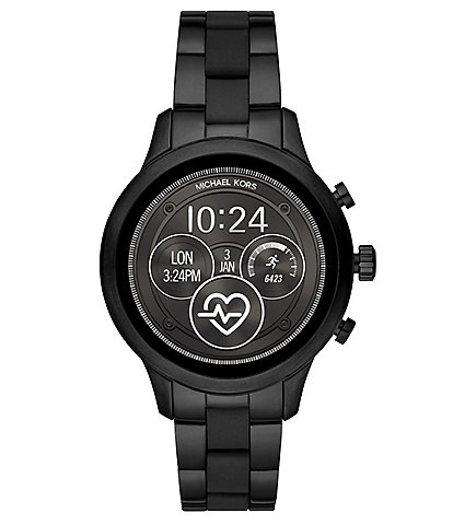 2eb423126a86 Michael Kors Access Runway Black Stainless Steel Touchscreen Smartwatch