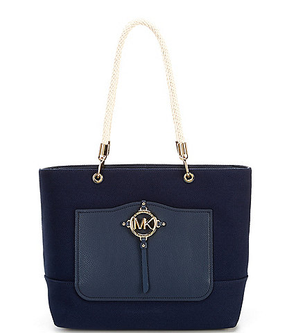 Michael Kors Amy Large Rope Canvas Tote Bag
