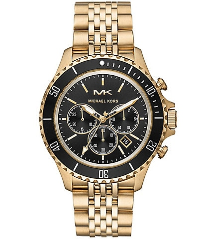 Michael Kors Bayville Chronograph Gold-Tone Stainless Steel Watch