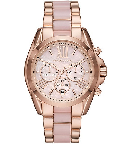 Michael Kors Bradshaw Chronograph Rose Gold Stainless steel Acetate Watch