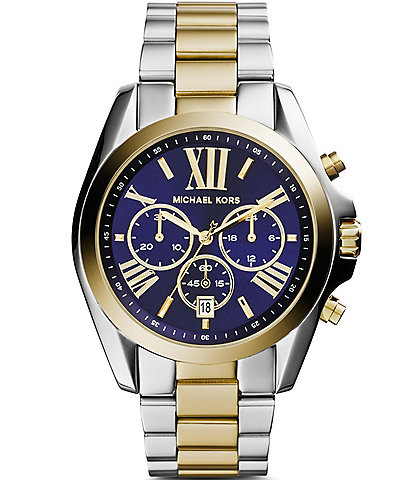Michael Kors Bradshaw Two Tone Chronograph Watch