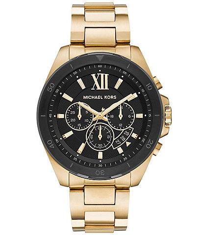 Michael Kors Brecken Chronograph Gold-Tone Stainless Steel Watch