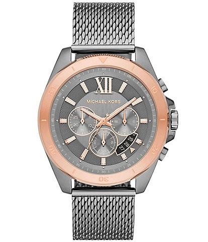 Michael Kors Brecken Chronograph Gunmetal Stainless Steel Watch