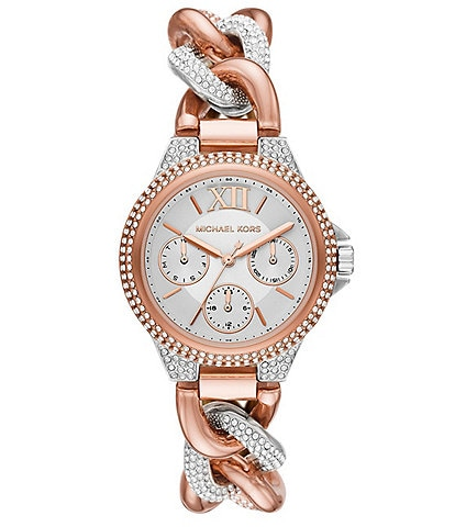 Michael Kors Camille Multifunction Rose Gold-Tone Stainless Watch