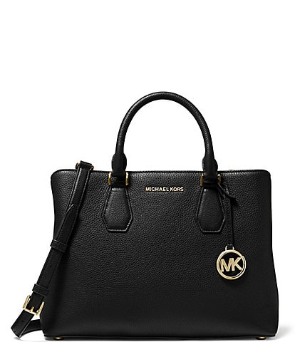 Michael Kors Camille Pebble Leather Large Satchel Bag