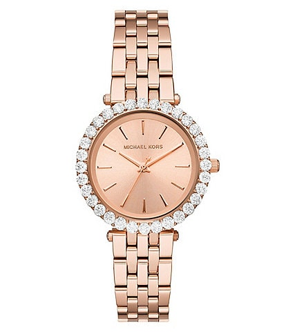 Michael Kors Darci Three-Hand Rose Gold-Tone Stainless Steel Watch