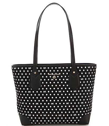 Michael Kors Eva Polka Dot Nylon Small Tote Bag