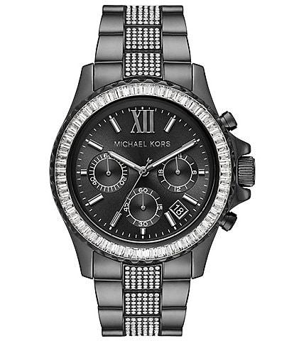 Michael Kors Everest Chronograph Gunmetal-Tone Stainless Steel Watch