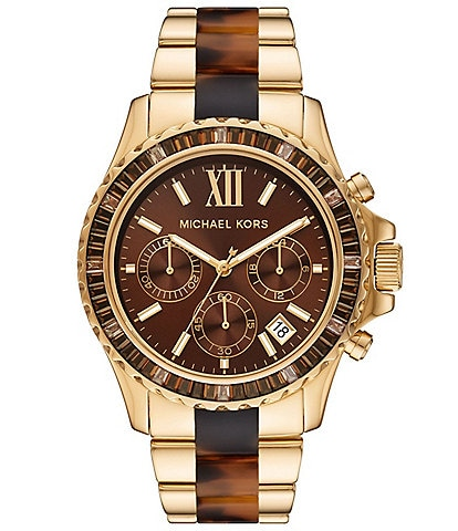 Michael Kors Everest Chronograph Two-Tone Stainless Steel Watch