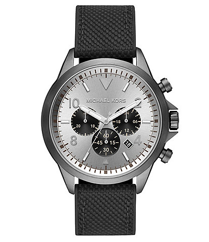 Michael Kors Gage Chronograph Black Silicone Watch