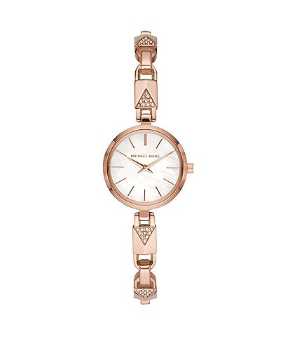 Michael Kors Jaryn Mercer Chain Rose Goldtone Stainless Steel Bracelet Watch