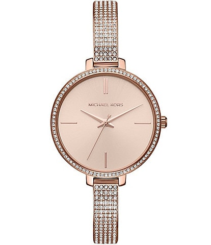 Michael Kors Jaryn Pavé Analog Bangle Bracelet Watch