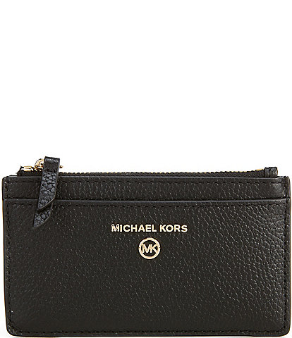 Michael Kors Jet Set Charm Pebble Leather Small Slim Card Case
