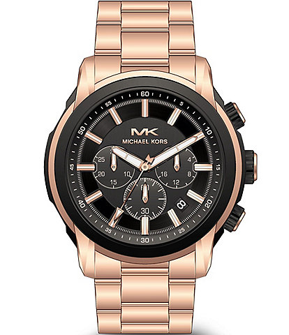 Michael Kors Kyle Chronograph Rose Gold-Tone Stainless Steel Watch