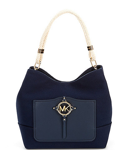 Michael Kors Large Rope Canvas Hobo Shoulder Bag