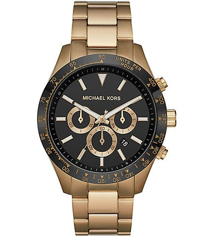 Michael Kors Layton Chronograph Antique Gold-Tone Stainless Steel Watch
