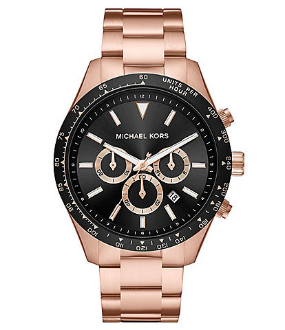 Michael Kors Layton Chronograph Rose Gold-Tone Stainless Steel Watch