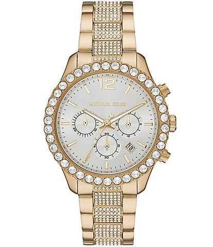 Michael Kors Layton Chronograph Gold-Tone Stainless Steel Watch