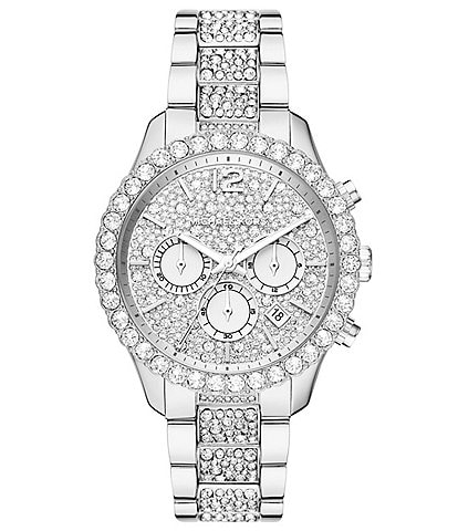 Michael Kors Layton Chronograph Stainless Steel PAVCZ Dial Watch